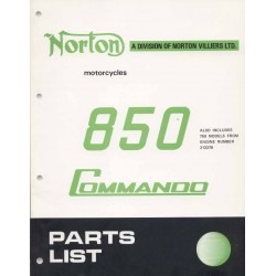 Spares catalogue NORTON Commando 850