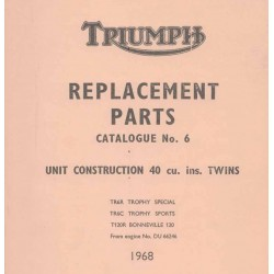 Spares catalogue TRIUMPH Unit twins from 1968