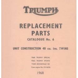 ET Katalog TRIUMPH Unit Modelle twin von 1969