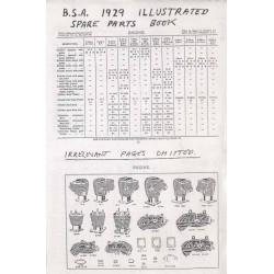 Spares catalogue BSA all models 1929