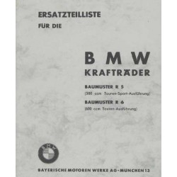 Spares catalogue BMW R 5 and R 6 prewar