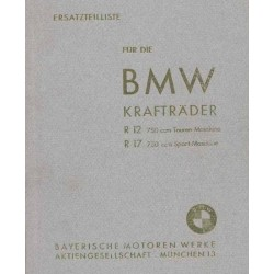 Spares catalogue BMW R 12 and R 17 prewar