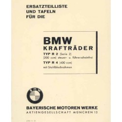 Spares catalogue BMW R 2 and R 4 prewar