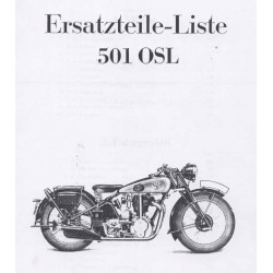 Spares catalogue NSU 501 OSL