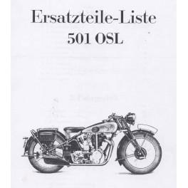 Spares catalogue NSU 501 OSL