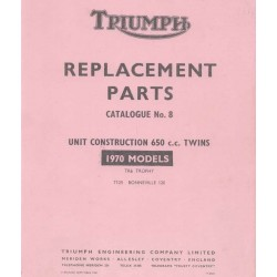 Spares catalogue TRIUMPH Unit twins from 1970