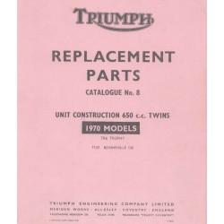 ET Katalog TRIUMPH Unit Modelle twin von 1970