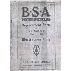 Spares catalogue BSA all models 1914 - 1923 Illustrations only