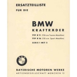 Spares catalogue BMW R 11 and R 16 prewar