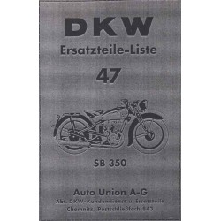 Spares catalogue DKW No. 47 SB 350