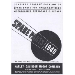 Spares catalogue HARLEY DAVIDSON all models 1930 - 1940