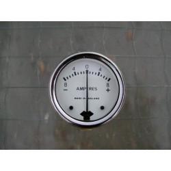 Amperemetro esfera blanca 6V 1.3/4 pulgadas