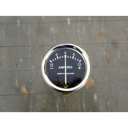 Ammeter 12V blackface 1 3/4 inch dia