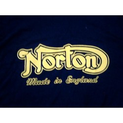 NORTON Made in England T-shirt yellow on black