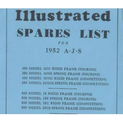 Spares catalogue AJS 16 and 18 models 1952