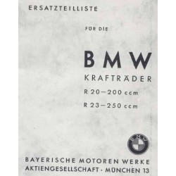 Spares catalogue BMW R 20 and R 23 prewar