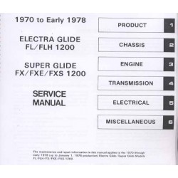Service manual Electra and Superglide 1970 - 1978