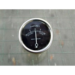 Ammeter 12 V black face 2 inch dia
